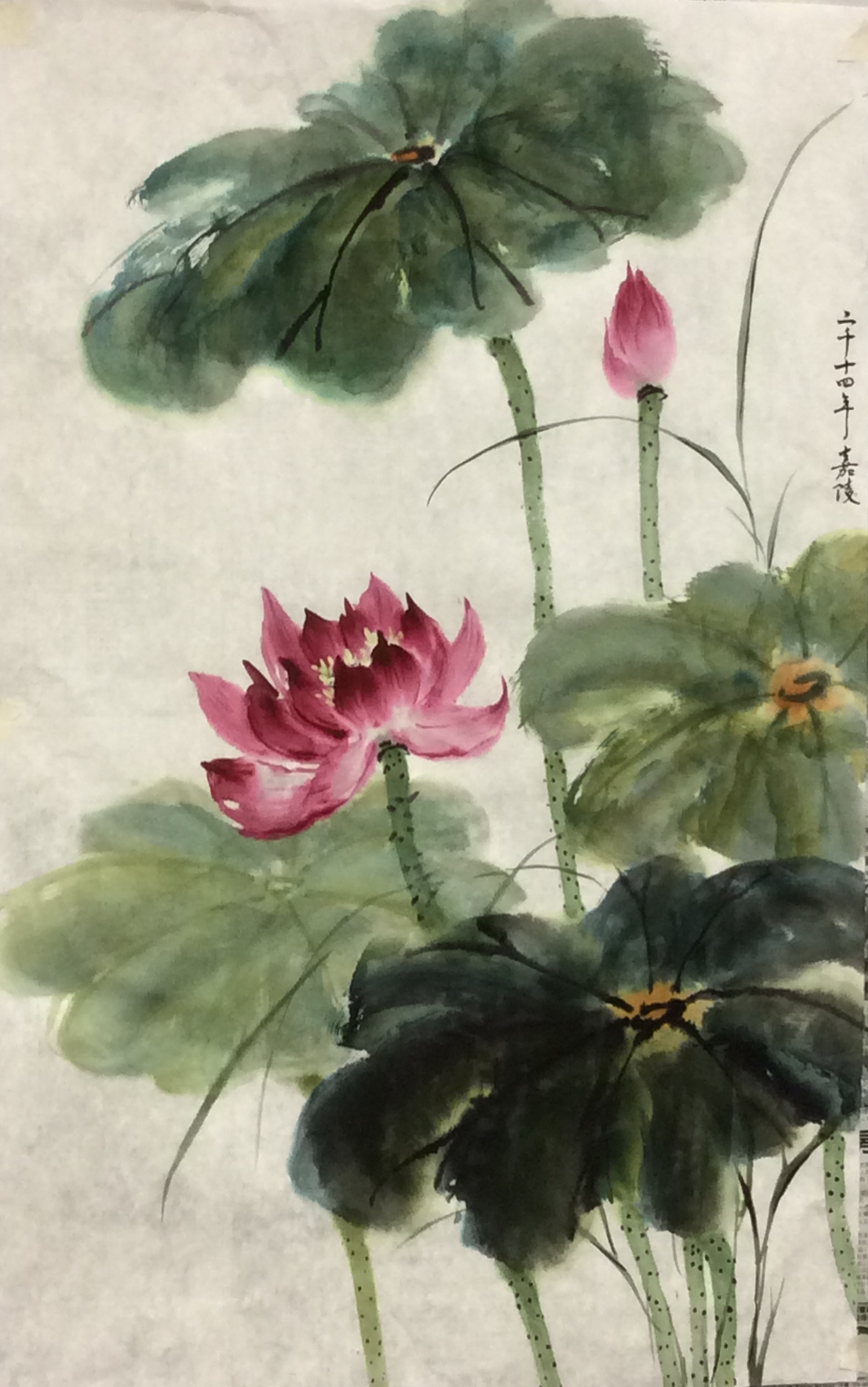 Demo Painting 2014 谭嘉陵 Chinese Traditional Brush Painting