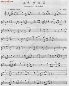 《我的祖国》小提琴曲
